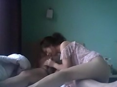 Asian girl gets her pussy plugged by her bf
