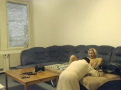 Guy has sex with a hot blonde streetslut this time