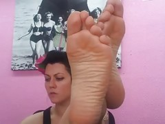 Large Nordic-French Feet of Hazel Golden-Haired Celine Part two