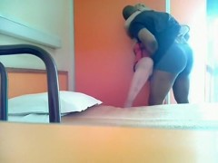 Cheating housewife gets black bulled in a hotelroom