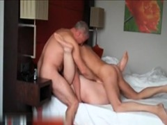 Wife gets fucked threesome and moaning loud