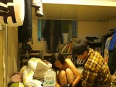 Inexperienced asian couple makes their first sextape
