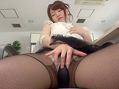 Amazing Japanese chick Yui Uehara in Hottest JAV uncensored Stockings clip
