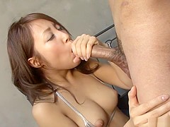 Fabulous Japanese chick Aya in Incredible JAV uncensored Big Tits video