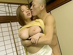 Hottest Japanese chick Ruri Saijou in Amazing JAV censored Swallow, MILFs scene