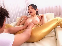 Exotic Japanese chick Azumi Mizushima in Incredible JAV censored Swallow, Hairy clip