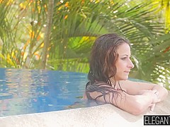 Stunning Martina Gold gets her tight ass drilled in the pool