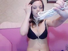 Private show with russian cam girl Badtekila