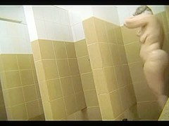 Curvaceous Russian females in swimming ###l's shower room