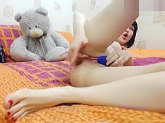 Demiana fingering her pussy and playing with a vibrator