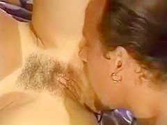Busty brunette Keisha gets her hairy cunt fucked and facial