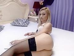 Sexxyforyou: charming blonde in black stockings