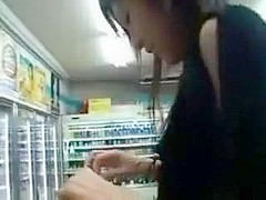 Japanese girl fucked in the store