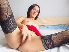 Amateur russian girl in stockings webcam