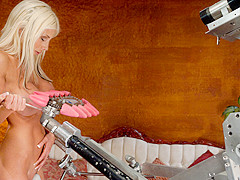 Best fetish, milf porn scene with amazing pornstar Puma Swede from Fuckingmachines