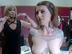 Crazy fetish, lesbian porn video with horny pornstars Vivienne Del Rio and Maitresse Madeline Marlow