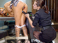 Exotic bdsm, lesbian porn scene with fabulous pornstars Bobbi Starr and Yasmine de Leon from Wiredpu