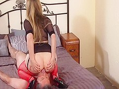 Fabulous pornstar Aiden Starr in amazing bdsm, cunnilingus adult movie