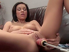 Amazing fetish adult clip with incredible pornstar Ruby Knox from Fuckingmachines
