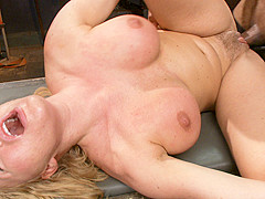 Hottest fetish, blonde adult scene with fabulous pornstars Mickey Mod and Krissy Lynn from Dungeonse
