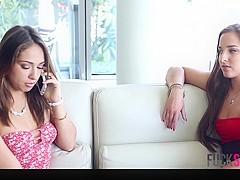 Amirah Adara & Sara Luvv in Besties Practice Anal