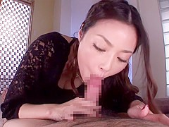 Risa Kasumi in Semen Sucking Deep Blowjob part 1.1