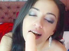 Brunette skinny bitch need dick in the mouth and pussy fuck