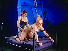 BDSM - Foot Fucked By Mistress In Bondage Part 2