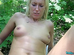 Joana in Slim blonde cheats on hubby for cash in public - PublicAgent