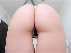 Ashley alban shows off her perfect bubble butt
