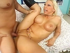 Fabulous pornstar Nicki Hunter in horny facial, dildos/toys porn movie