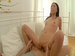 Hottest pornstar in amazing creampie, asian porn scene