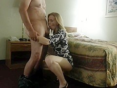 Blond Girl Giving Head And Getting Fucked In Hotel