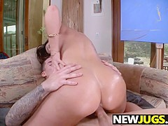 Huge natural tits babe Alison Tyler get fucked