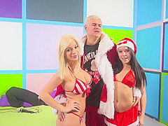 Bibi Noel,Megan Rain,Porno Dan in Megan Rains & Bibi Noel tag team Porno Dan Video