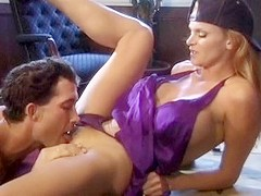 Exotic pornstar Sana Fey in hottest blowjob, hairy porn clip