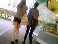 Shorty Shorts Hot Teen Ass Shopping Walking Stalking