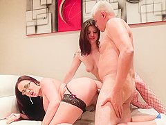 Lucia Love,Emma Butt,Porno Dan in XXX English Breakfast With Lucia And Emma Video