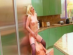 Horny pornstars Sami St. Claire and Katerina Kay in hottest small tits, blonde adult clip