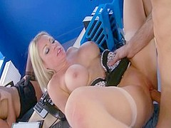 Fabulous pornstars Cindy Behr and Chelsea Sax in amazing big tits, facial xxx movie