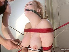 Amazing anal, fetish xxx video with incredible pornstars Audrey Hollander and Otto Bauer from Dungeo
