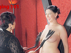 Exotic bdsm, fetish sex scene with best pornstars Nerine Mechanique and Cleo Dubois from Kinkunivers