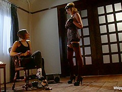Exotic lesbian, fetish adult clip with fabulous pornstars Bobbi Starr and Katie Kox from Whippedass