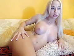 -Vika-: naked blonde lies on the couch