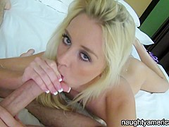 Roxxi Silver in Vacationing Blonde Suns Poolside, Fucks Her Man - NaughtyAmericans