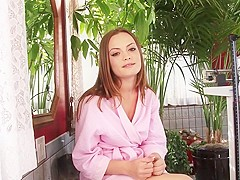 Exotic pornstar Monica Rise in hottest masturbation, brunette porn scene