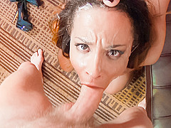 Francesca Le,Teanna Trump,Mark Wood in Facial Vi0lation #03, Scene #03