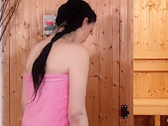 Relaxxxed - Steamy sauna sex with Czech beauty