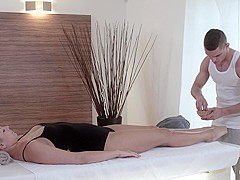 Relaxxxed - Erotic massage turns to passionate fuck with hot blonde Czech babe