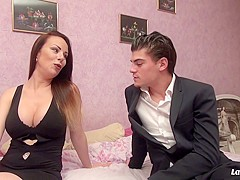 La Novice - Naughty French newbie eats cum in hardcore pussy and ass fuck